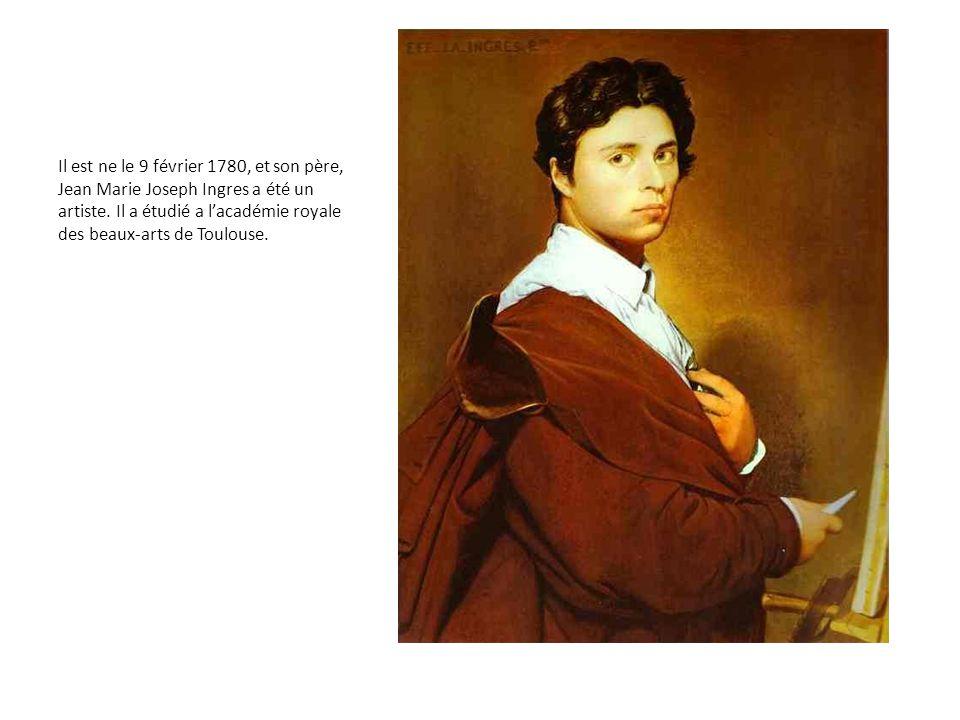 Il est ne le 9 février 1780, et son père, Jean Marie Joseph Ingres a été un artiste. Il a étudié a l'académie royale des beaux-arts de Toulouse.