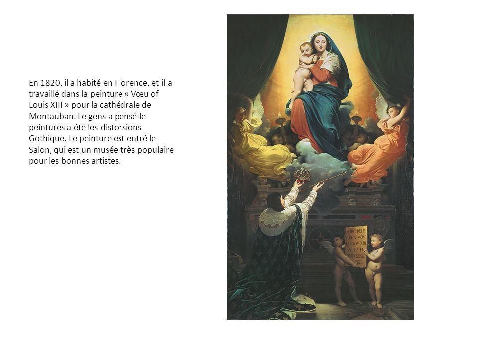 En 1820, il a habité en Florence, et il a travaillé dans la peinture « Vœu of Louis XIII » pour la cathédrale de Montauban. Le gens a pensé le peintur