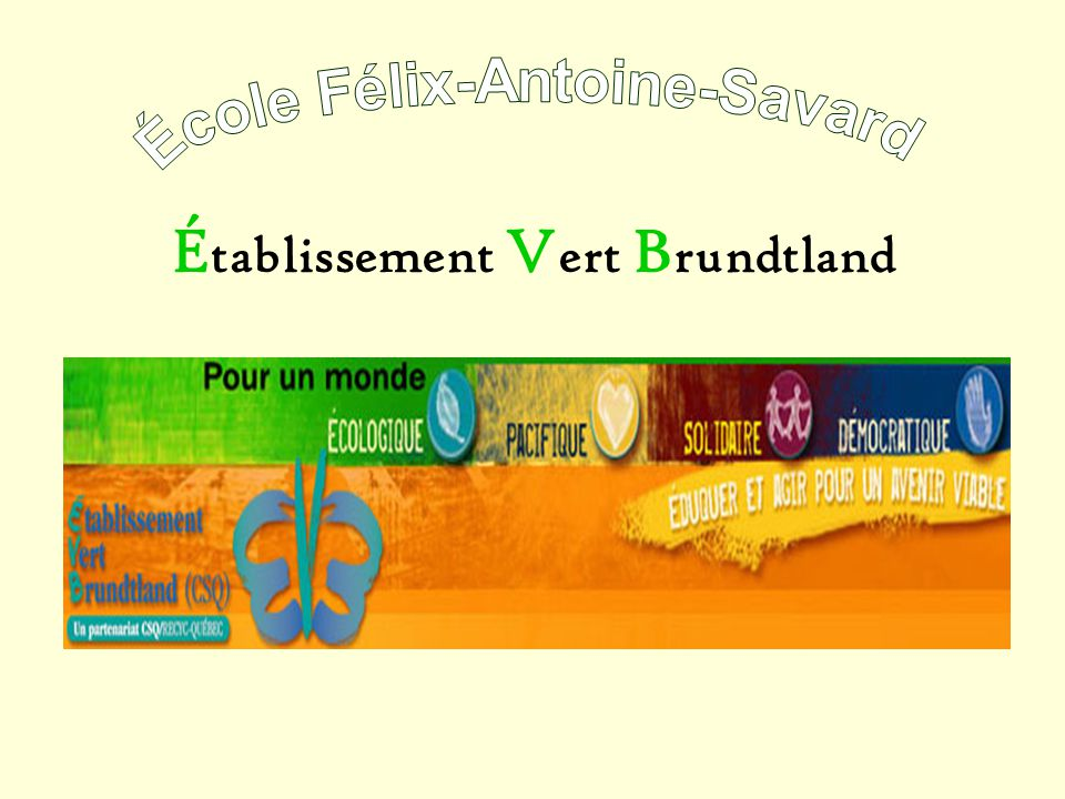 É tablissement V ert B rundtland