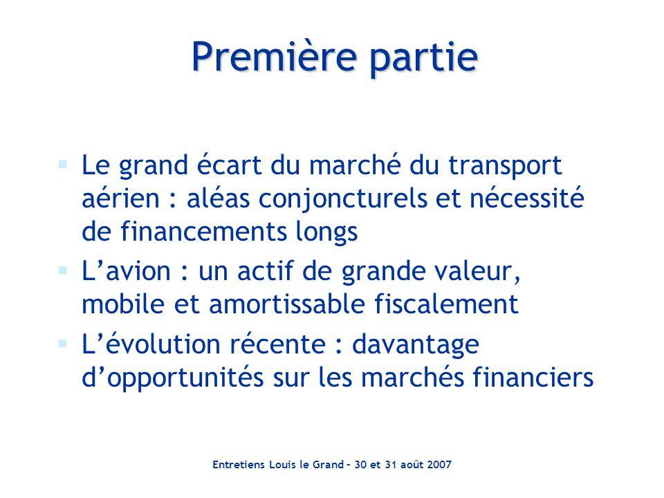 Entretiens Louis le Grand – 30 et 31 août 2007 Première partie  Le grand écart du marché du transport aérien : aléas conjoncturels et nécessité de fi