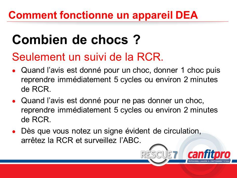 CPR Course Level 1 Comment fonctionne un appareil DEA Combien de chocs .