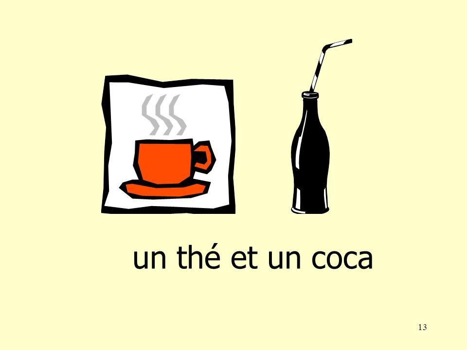 12 un café et un Orangina
