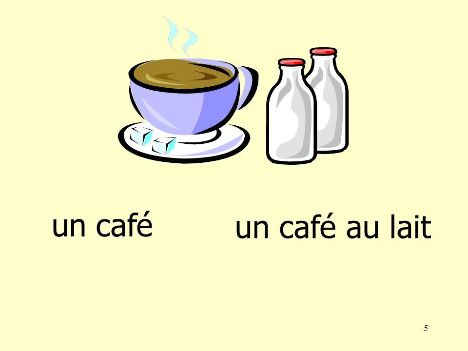5 un café au lait