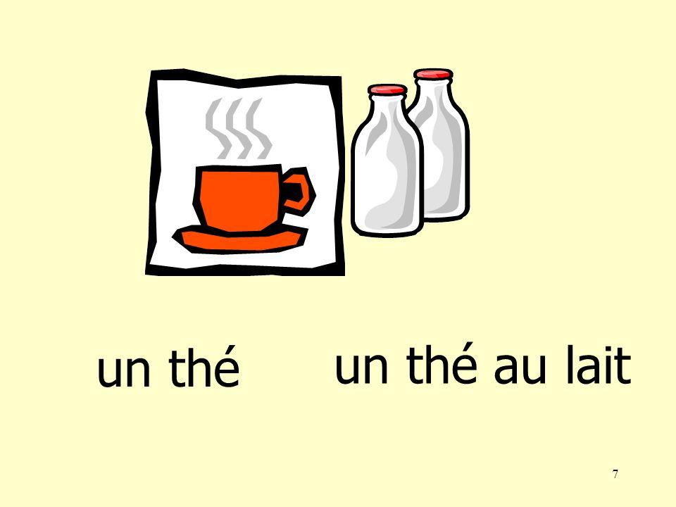 6 un thé un café