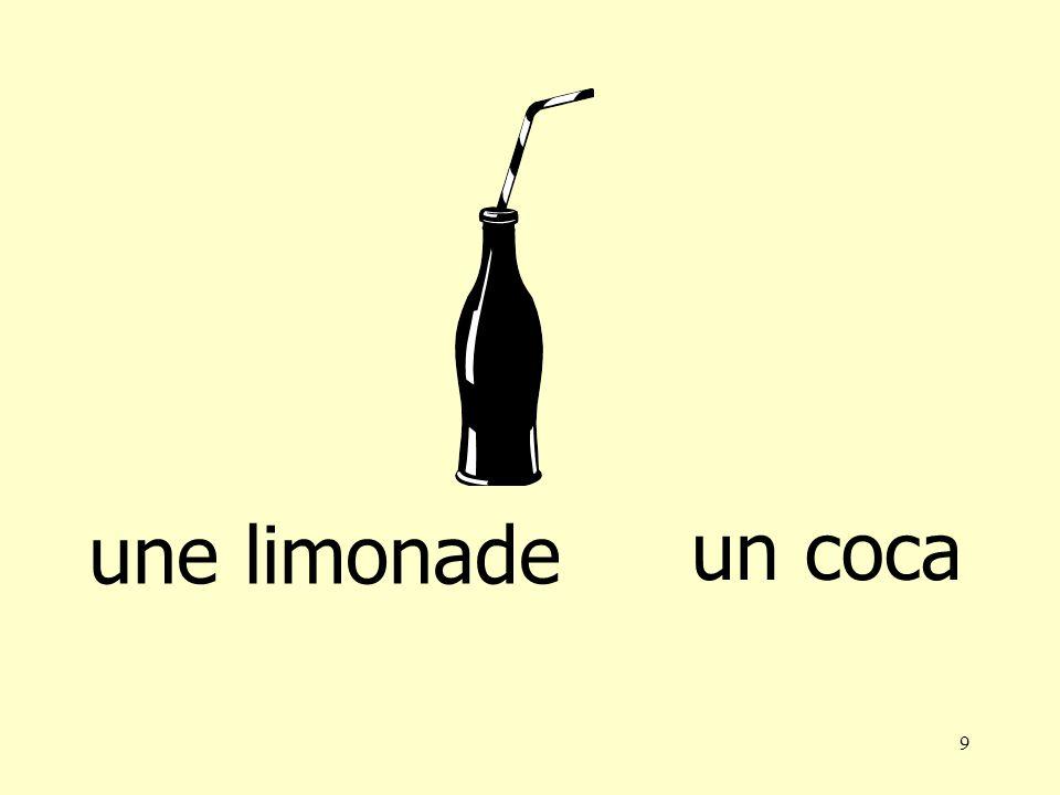 8 une limonade une bière