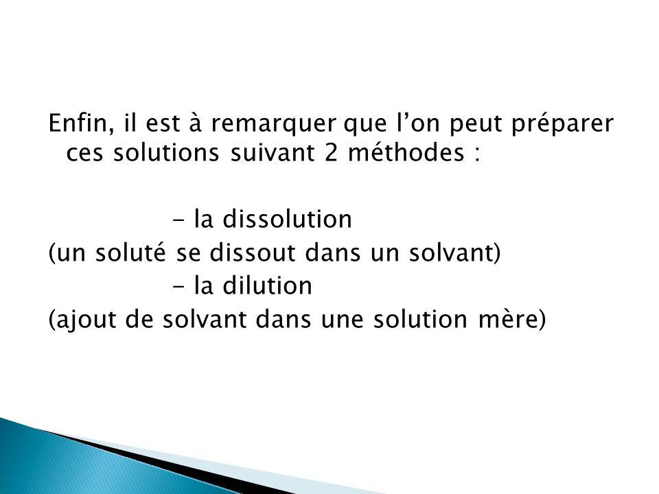  Préparer une solution de 100mL de sulfate de cuivre CuSO 4 à 0,1 mol/L M(CuSO 4, 5H 2 O) = 249,68g/mol Correction :
