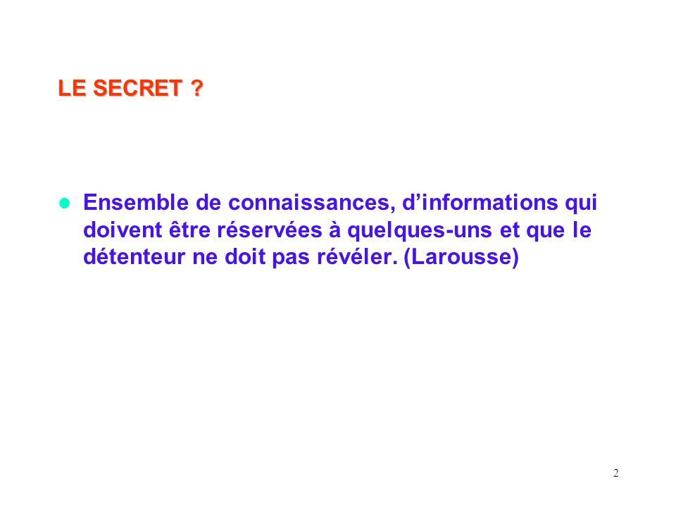 2 LE SECRET .