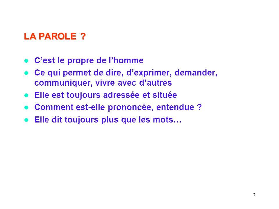 7 LA PAROLE .