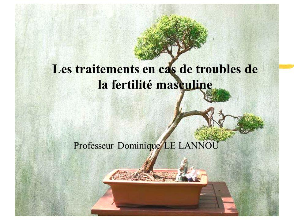 Les traitements en cas de troubles de la fertilité masculine Professeur Dominique LE LANNOU