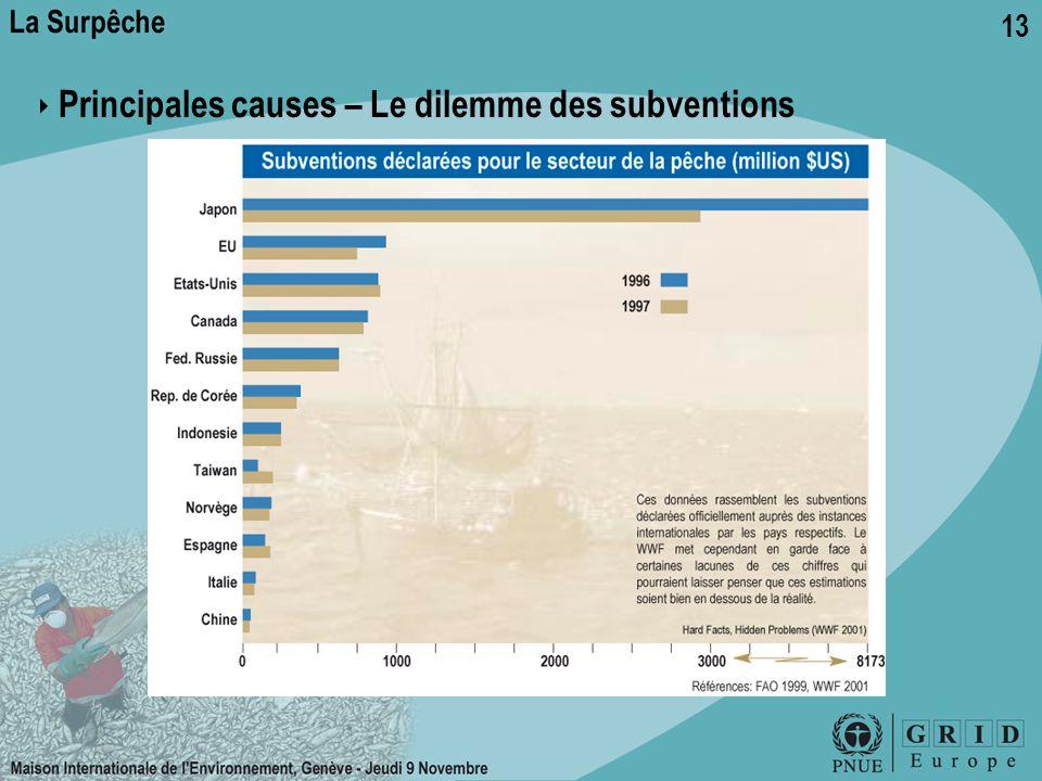 13 ‣ Principales causes – Le dilemme des subventions