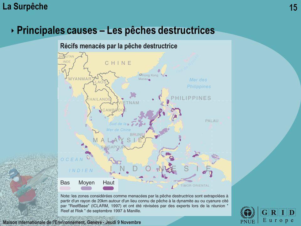 15 ‣ Principales causes – Les pêches destructrices