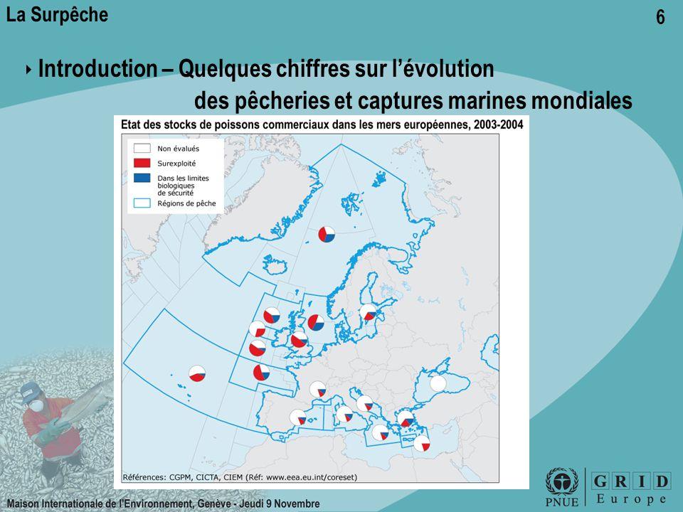 6 ‣ Introduction – Quelques chiffres sur l'évolution des pêcheries et captures marines mondiales