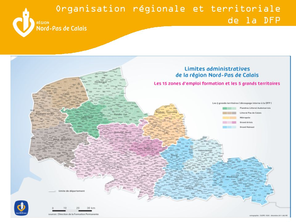 Organisation régionale et territoriale de la DFP