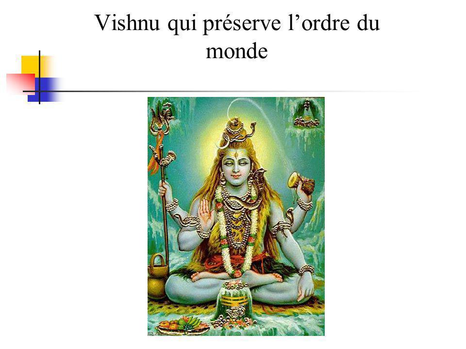 Vishnu qui préserve l'ordre du monde