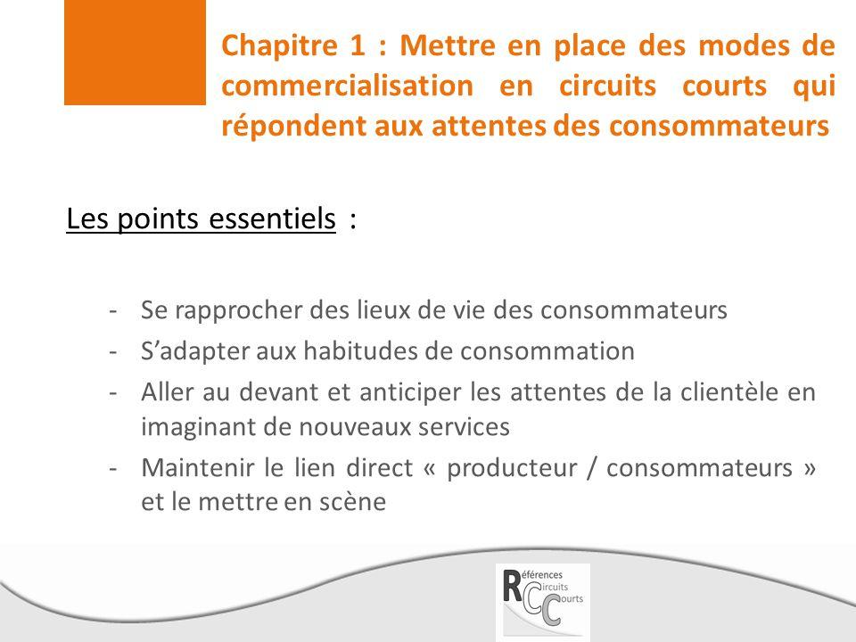 Les points essentiels : -Se rapprocher des lieux de vie des consommateurs -S'adapter aux habitudes de consommation -Aller au devant et anticiper les a