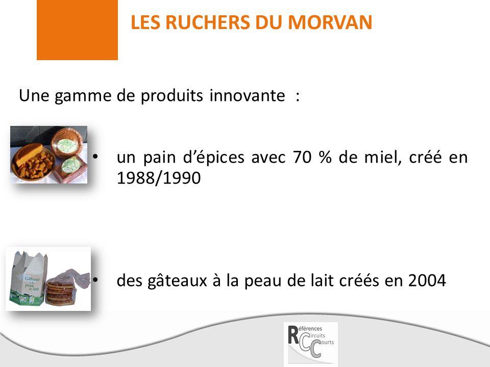 LES RUCHERS DU MORVAN Une gamme de produits innovante : un pain d'épices avec 70 % de miel, créé en 1988/1990 des gâteaux à la peau de lait créés en 2