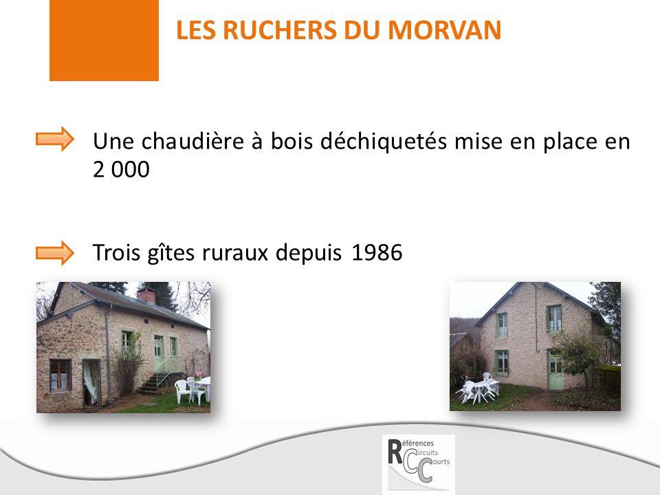 LES RUCHERS DU MORVAN Une chaudière à bois déchiquetés mise en place en 2 000 Trois gîtes ruraux depuis 1986