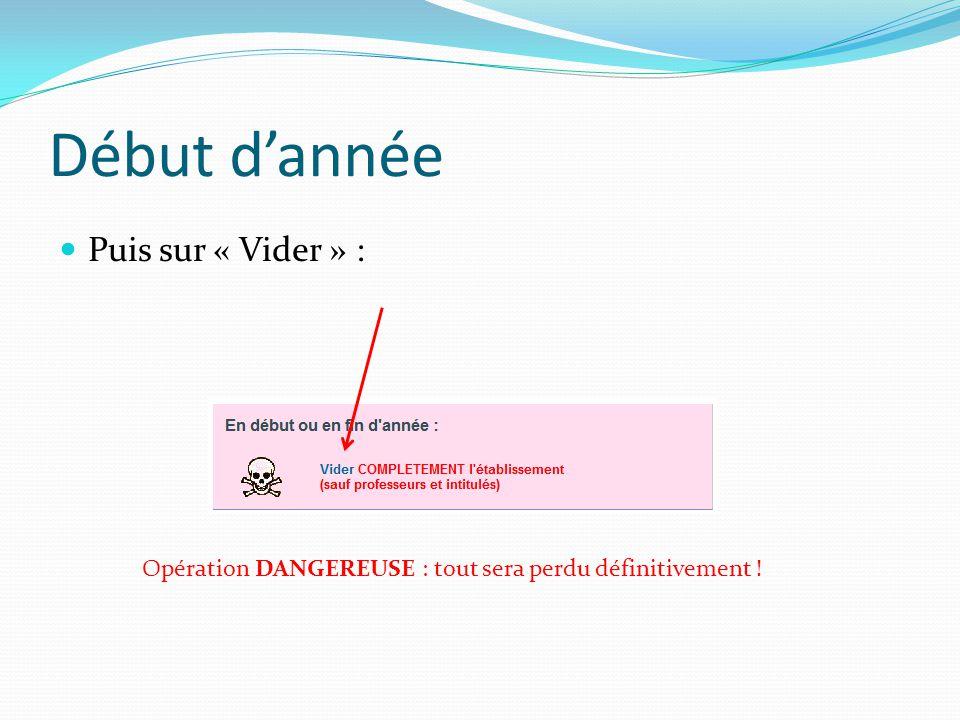 Début d'année Puis sur « Vider » : Opération DANGEREUSE : tout sera perdu définitivement !