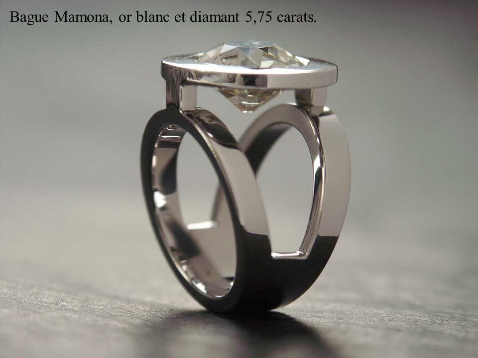 Bague Mamona, or blanc et diamant 5,75 carats.