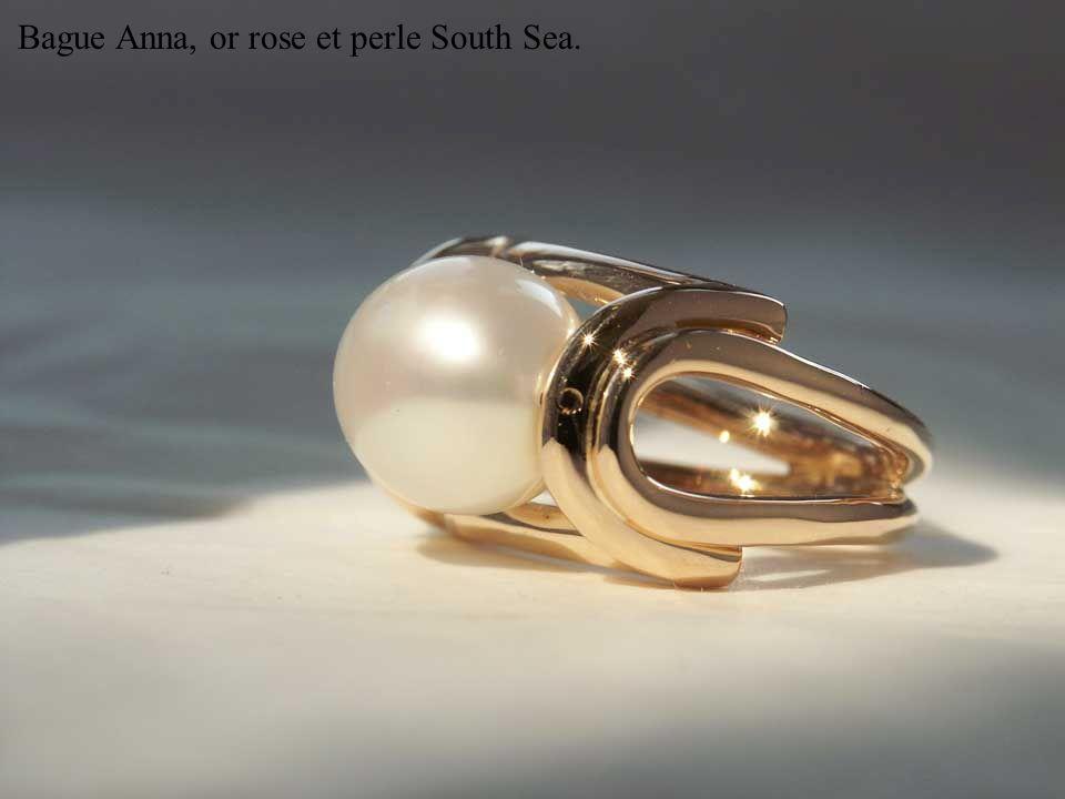 Or blanc, saphir rose