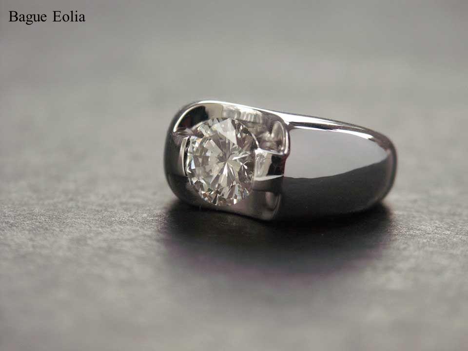 Bague Eolia, or blanc et diamant 2,36 carats.