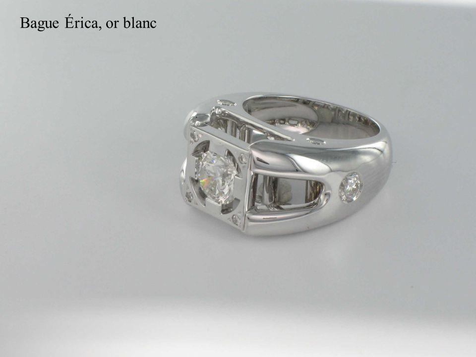 Bague Érica, or blanc et diamants