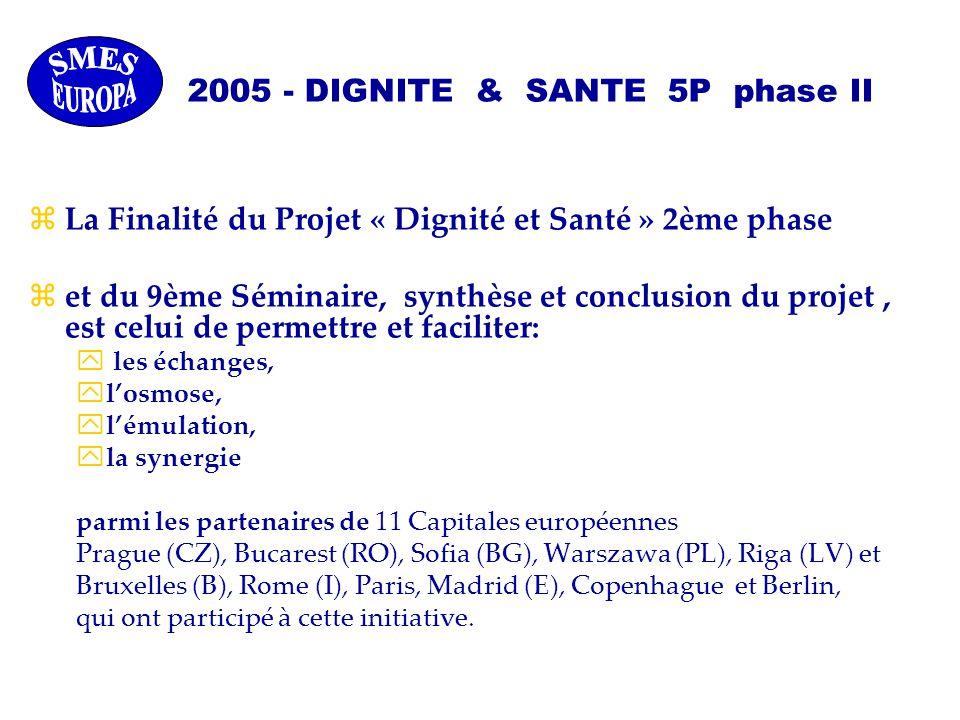 zLa Finalité du Projet « Dignité et Santé » 2ème phase zet du 9ème Séminaire, synthèse et conclusion du projet, est celui de permettre et faciliter: y