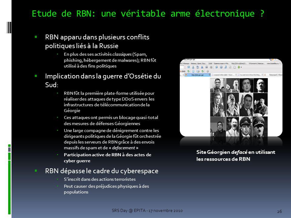 Etude de RBN: une véritable arme électronique .