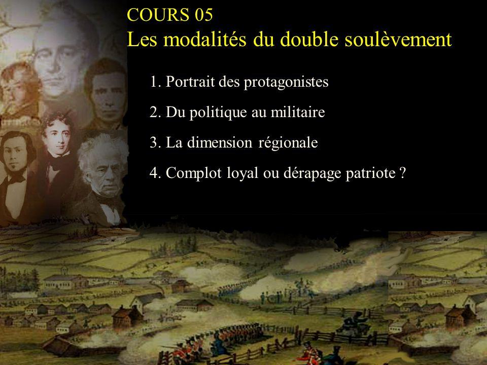 2. Du politique au militaire 1. Portrait des protagonistes 3.