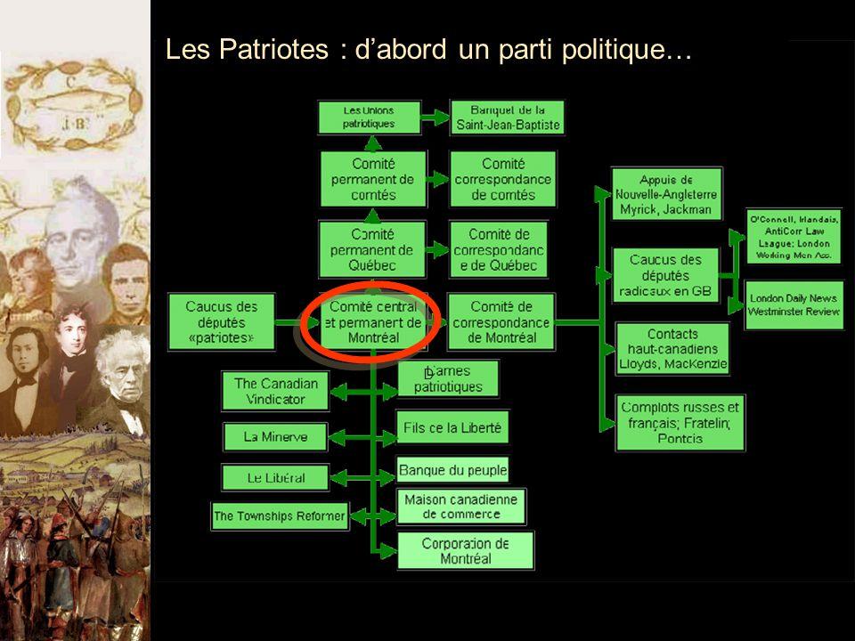 Les Patriotes : d'abord un parti politique… D