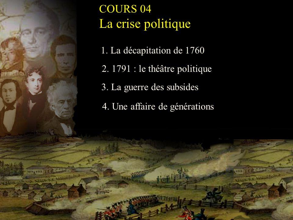 1.La décapitation de 1760 2. 1791 : le théâtre politique 3.