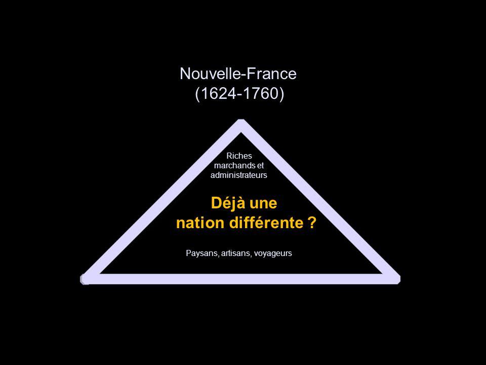 Nouvelle-France (1624-1760) Déjà une nation différente .