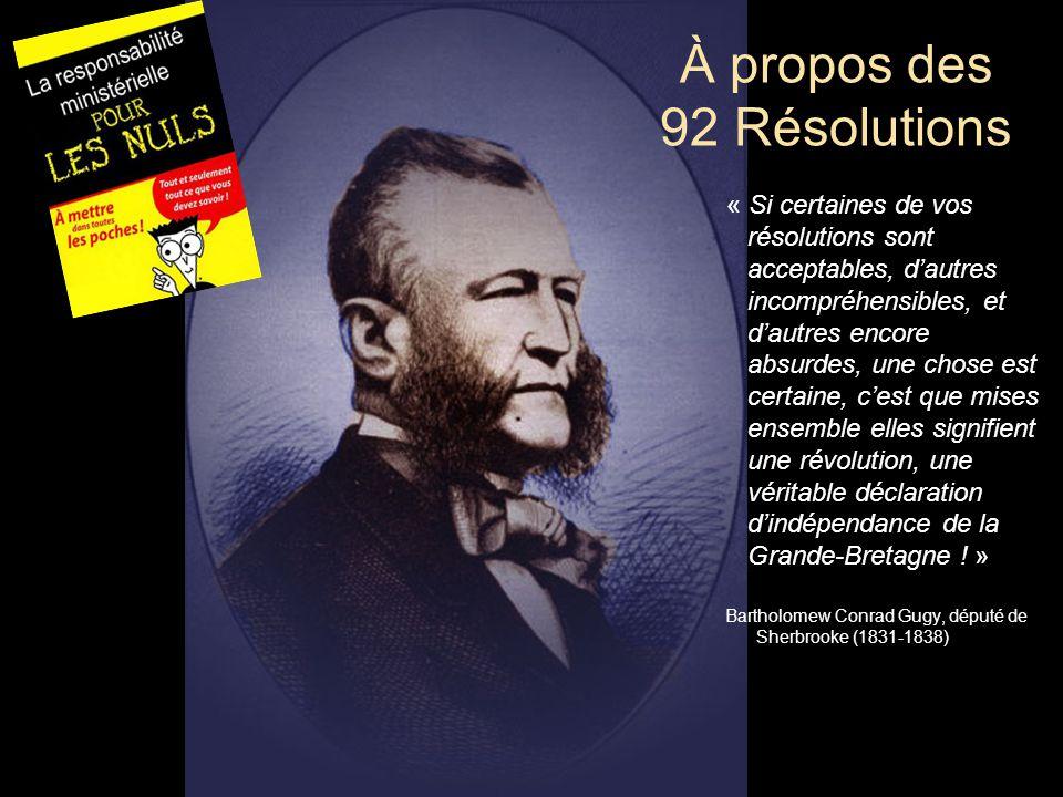 « Si certaines de vos résolutions sont acceptables, d'autres incompréhensibles, et d'autres encore absurdes, une chose est certaine, c'est que mises e