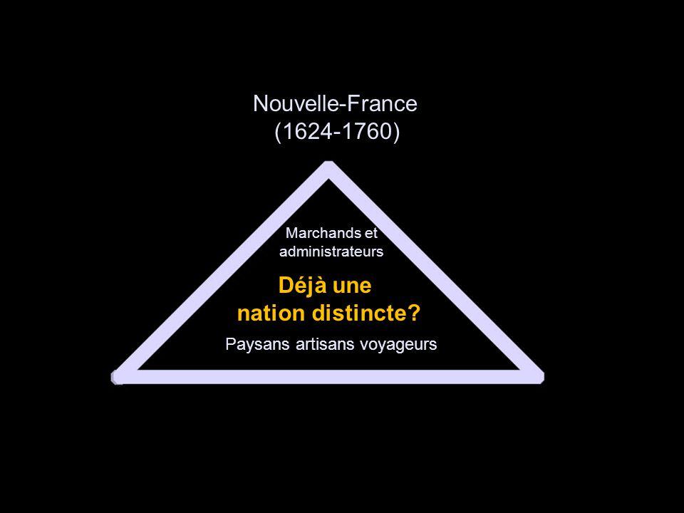 Nouvelle-France (1624-1760) Déjà une nation distincte.