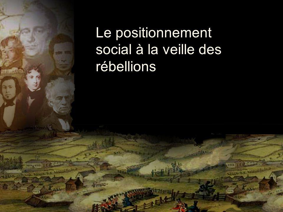 Le positionnement social à la veille des rébellions