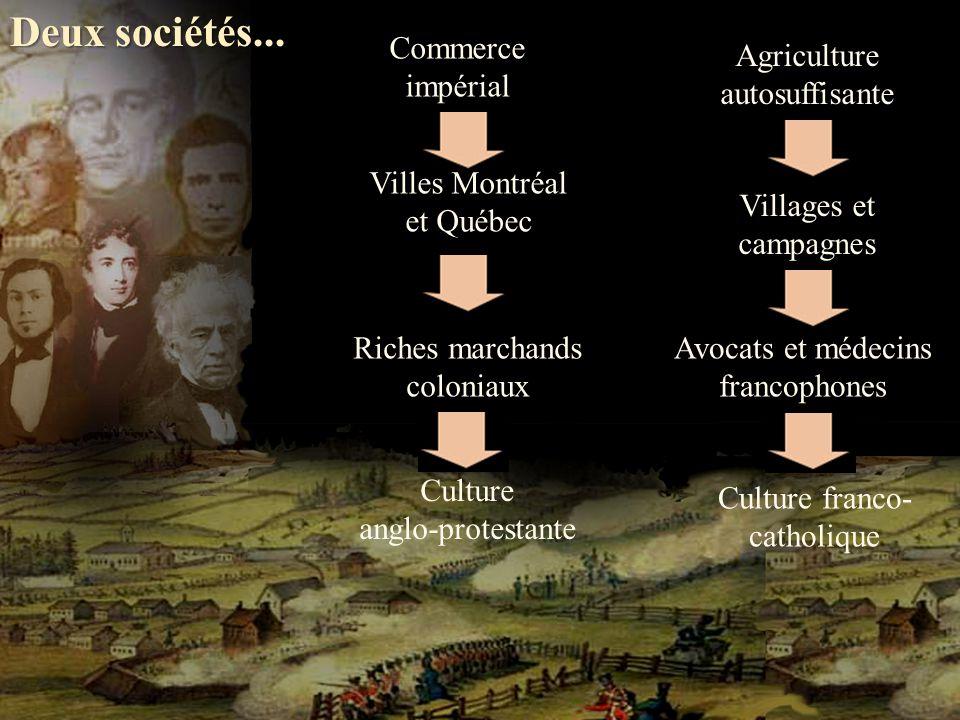 Agriculture autosuffisante Commerce impérial Deux sociétés...
