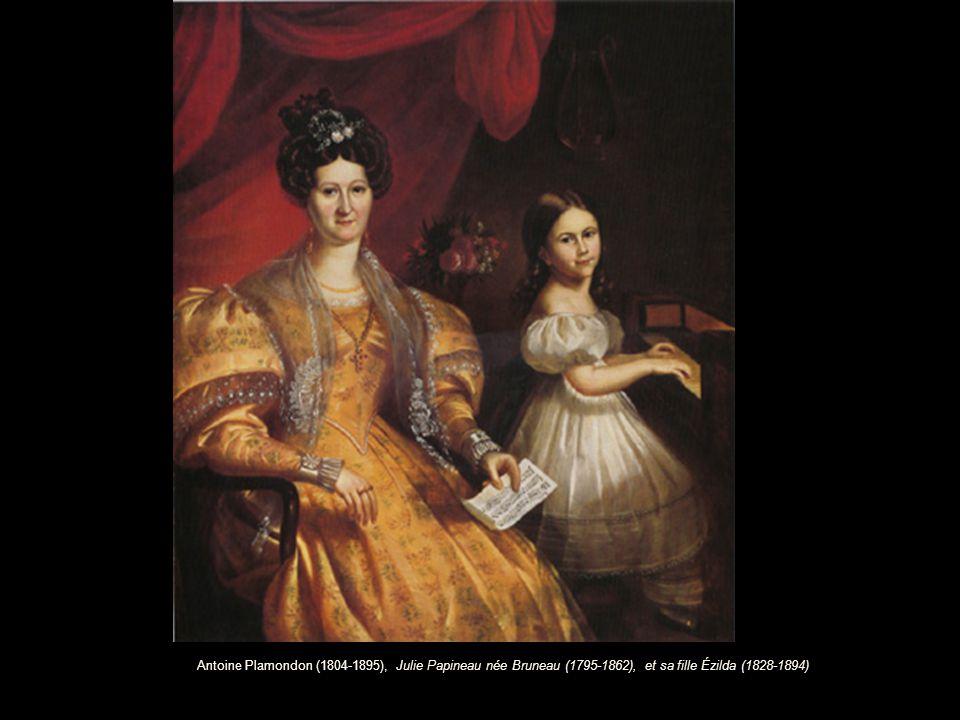 Antoine Plamondon (1804-1895), Julie Papineau née Bruneau (1795-1862), et sa fille Ézilda (1828-1894)