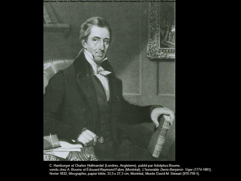 C. Hamburger et Charles Hullmandel (Londres, Angleterre), publié par Adolphus Bourne, vendu chez A.