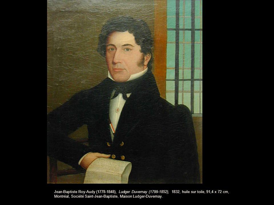 Jean-Baptiste Roy-Audy (1778-1848), Ludger Duvernay (1799-1852), 1832, huile sur toile, 91,4 x 72 cm, Montréal, Société Saint-Jean-Baptiste, Maison Ludger-Duvernay.