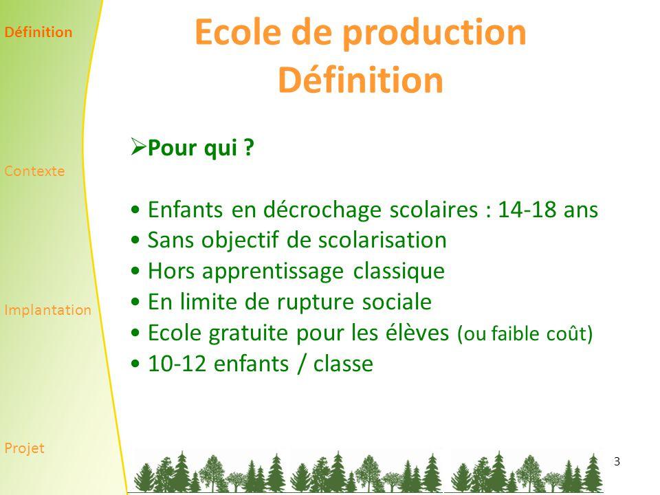 3 Ecole de production Définition  Pour qui .