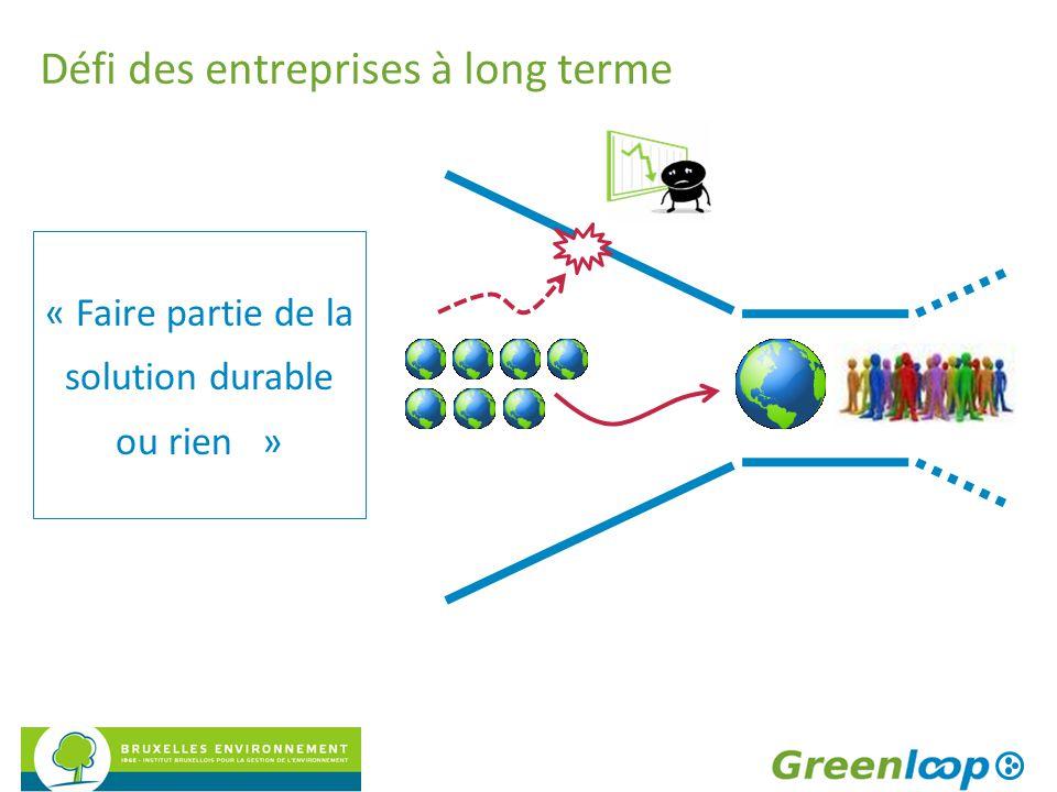 Défi des entreprises à long terme « Faire partie de la solution durable ou rien »
