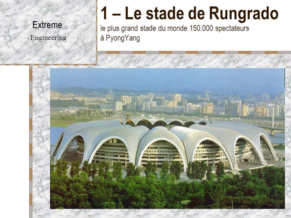 1 – Le stade de Rungrado le plus grand stade du monde 150.000 spectateurs à PyongYang Extreme Engineering