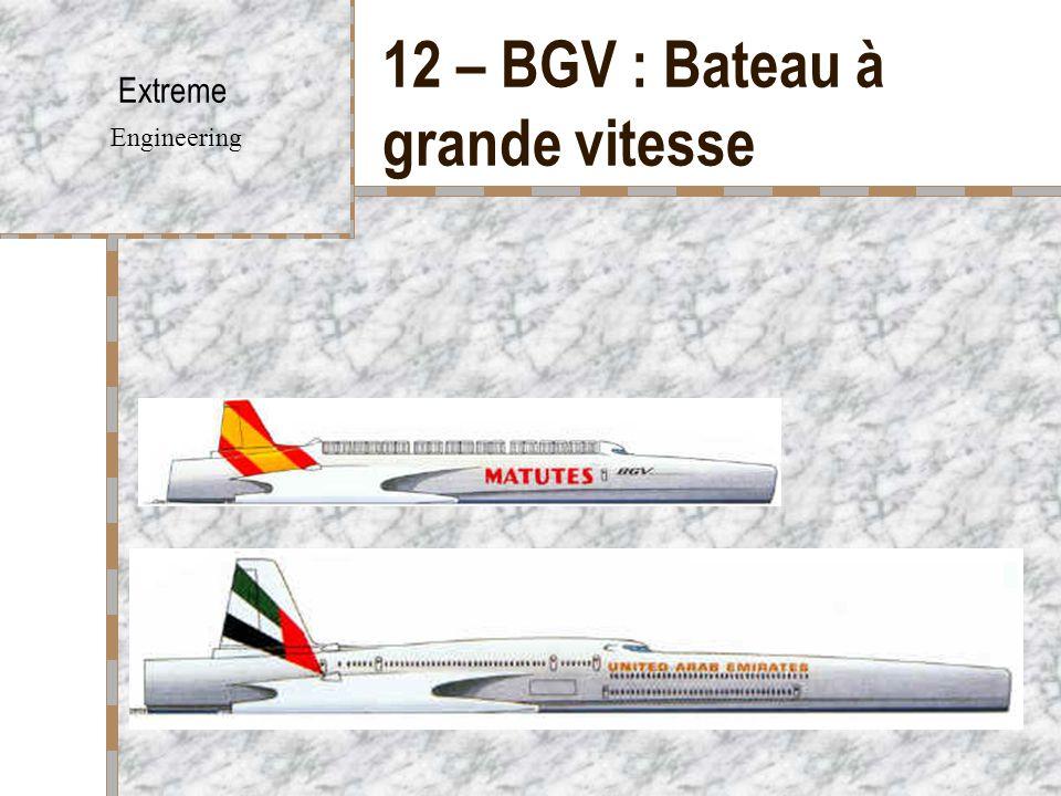 12 – BGV : Bateau à grande vitesse Extreme Engineering