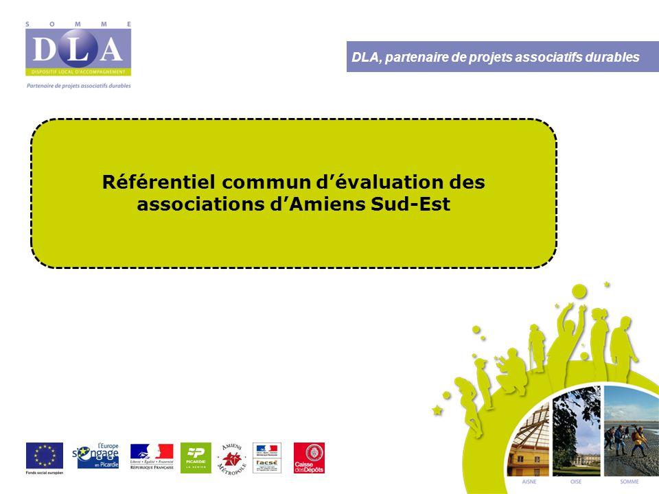 DLA, partenaire de projets associatifs durables UNE VOLONTE DE TRAVAIL EN RESEAU  Une démarche à l'initiative de plusieurs associations et de l'équipe territoriale d'Amiens Sud-Est  Un questionnement commun sur la conduite de l'évaluation et sur la mise en place au quotidien
