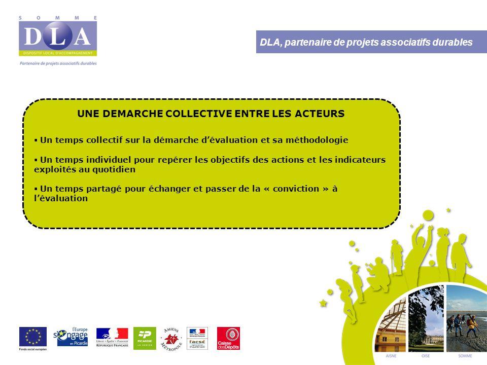 DLA, partenaire de projets associatifs durables LES RESULTATS OBTENUS Un référentiel et le guide d'utilisation de l'outil  La définition d'un axe commun d'évaluation et de valorisation de l'utilité sociale des actions mises en place dans le cadre du CUCS : Le « mieux vivre ensemble »