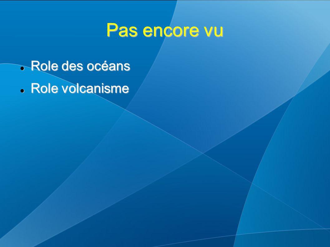 Pas encore vu Role des océans Role des océans Role volcanisme Role volcanisme