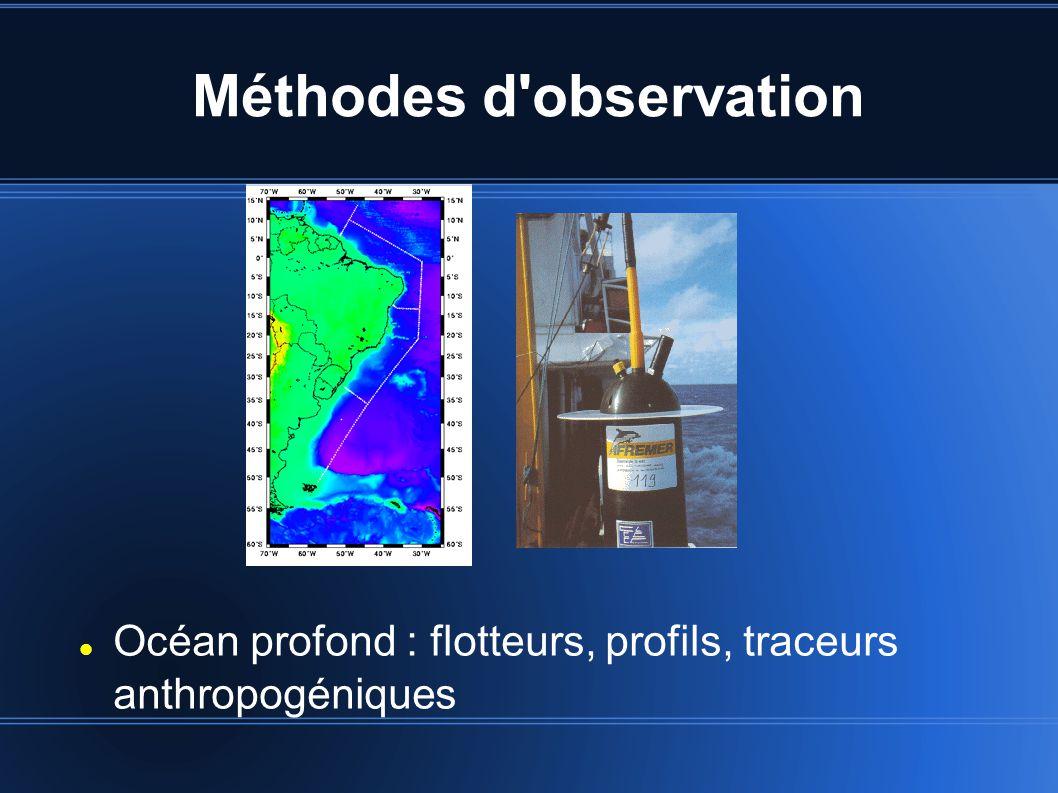 Méthodes d observation Océan profond : flotteurs, profils, traceurs anthropogéniques