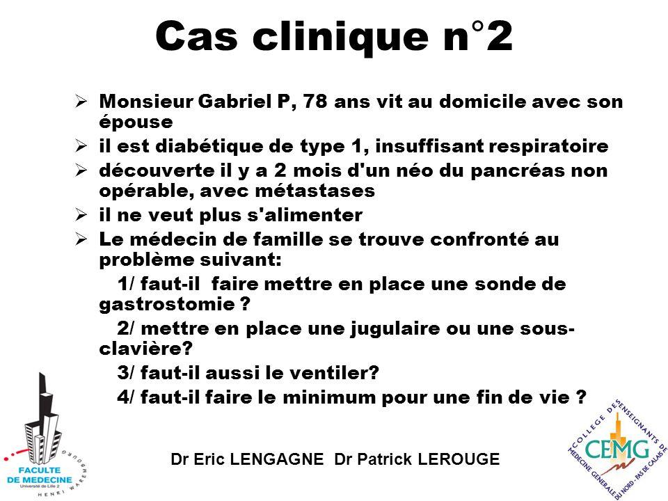 Dr Eric LENGAGNE Dr Patrick LEROUGE Cas clinique n°3  Votre patient M Bernard M.