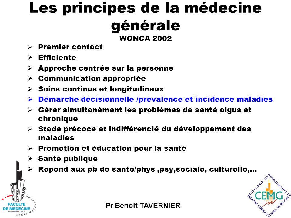 Pr Benoit TAVERNIER Objectifs de la formation  Hiérarchiser les hypothèses diagnostiques  Expliciter la démarche logique et analogique qui mène à cette première hypothèse.