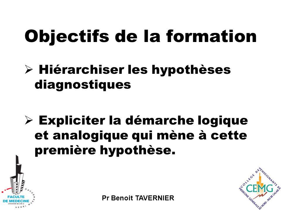 Pr Benoit TAVERNIER Objectifs spécifiques  Enumérer les différentes sources d'informations accessibles durant les premiers instants de l'entretien.